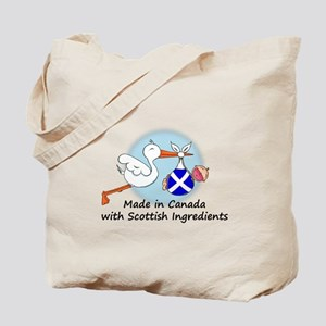 Stork Baby Scotland Canada Tote Bag