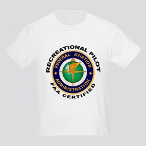 FAA Certified Recreational Pilot Kids Light T-Shir
