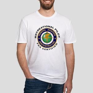 FAA Certified Recreational Pilot Fitted T-Shirt