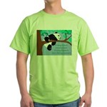 Panda Loves Libraries Green T-Shirt