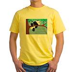 Panda Loves Libraries Yellow T-Shirt