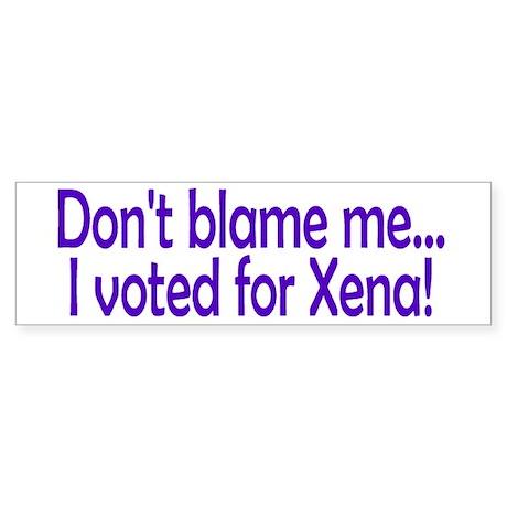 xena Bumper Sticker