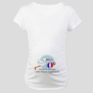 Stork Baby France Canada Maternity T-Shirt