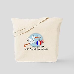 Stork Baby France Canada Tote Bag