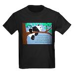 Panda Loves Libraries Kids Dark T-Shirt