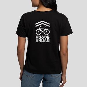 SHARROW (on Front & Back of Shirt) Women's Dark T-