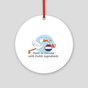 Stork Baby Netherlands Canada Ornament (Round)