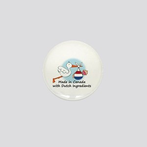 Stork Baby Netherlands Canada Mini Button