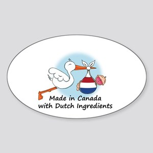 Stork Baby Netherlands Canada Sticker (Oval)
