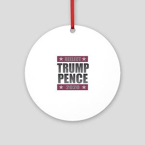 Trump Pence 2020 Round Ornament