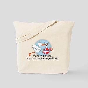Stork Baby Norway Canada Tote Bag