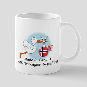 Stork Baby Norway Canada Mug