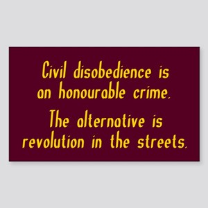 Civil Disobedience Sticker (Rectangle)