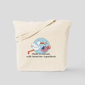 Stork Baby USA Canada Tote Bag