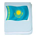 Kazakhstan Flag baby blanket