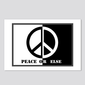Peace Or Else Postcards (Package of 8)