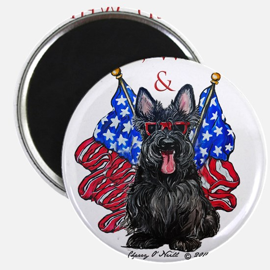 Scottie 4th of July Magnets