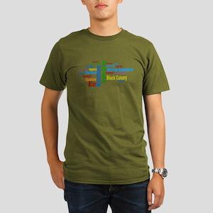 Smallville Heros Word Cloud Organic Men's T-Shirt