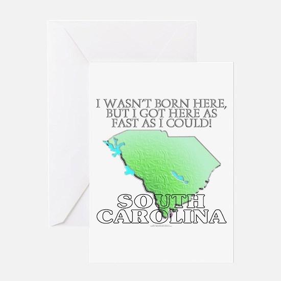 Got here fast! South Carolina Greeting Card