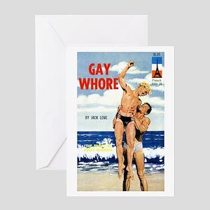 Gay Whore Greeting Card
