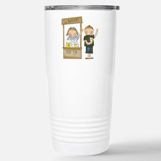 Lemonade Stand Stainless Steel Travel Mug