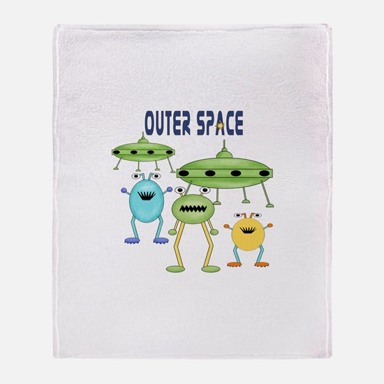 Outer Space Throw Blanket