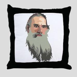 Lyev Nikolayevich Tolstoy Throw Pillow