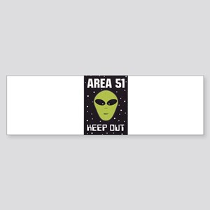 Area 51 Keep Out Sticker (Bumper)