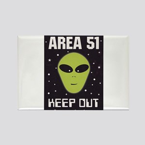 Area 51 Keep Out Rectangle Magnet
