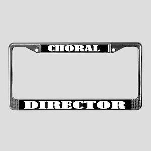 Choral Director License Plate Frame