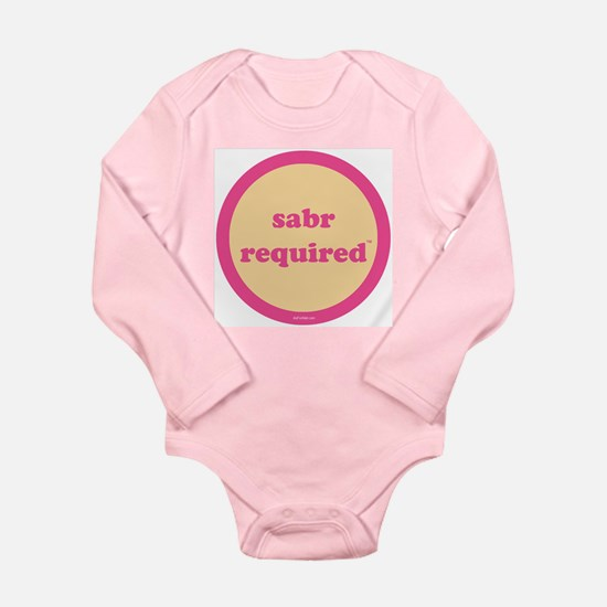 Sabr Long Sleeve Infant Bodysuit (yellow+pink)
