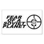 Fear of a Soviet Planet Sticker (Rectangle)