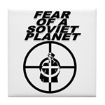 Fear of a Soviet Planet Tile Coaster