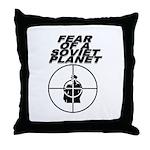 Fear of a Soviet Planet Throw Pillow