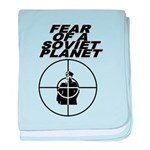 Fear of a Soviet Planet baby blanket