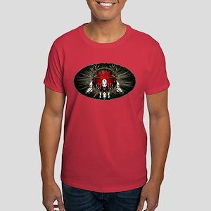 European skull mount,red Dark T-Shirt