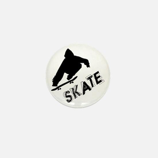 Skate Ollie Sillhouette Mini Button