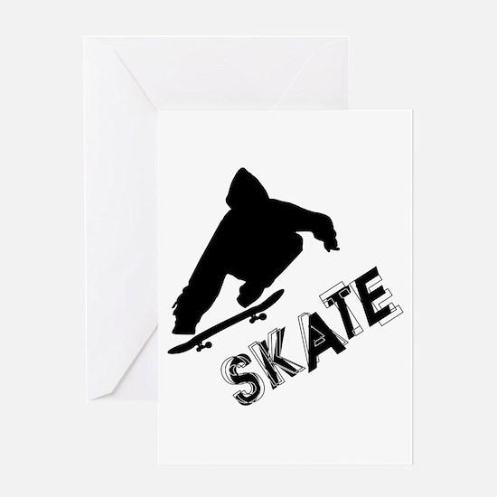 Skate Ollie Sillhouette Greeting Card