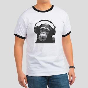 DJ MONKEY grey Ringer T