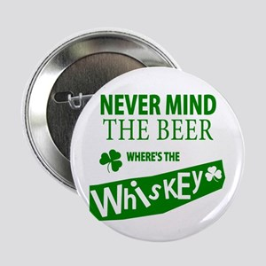 "St Patricks Wheres the Whisky 2.25"" Button"