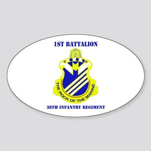 DUI - 1st Bn - 38th Infantry Regt with Text Sticke