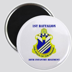 DUI - 1st Bn - 38th Infantry Regt with Text Magnet