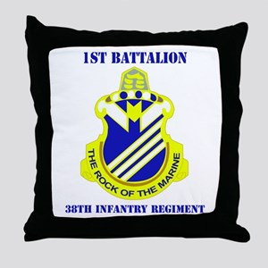 DUI - 1st Bn - 38th Infantry Regt with Text Throw