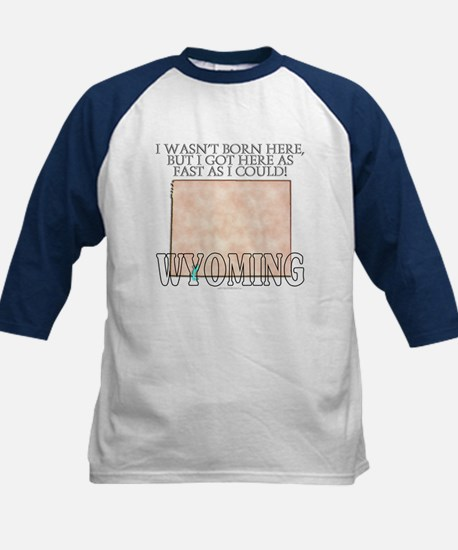 Got here fast! Wyoming Kids Baseball Jersey