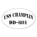 USS CHAMPLIN Sticker (Oval)