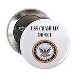 """USS CHAMPLIN 2.25"""" Button"""