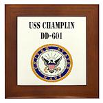 USS CHAMPLIN Framed Tile