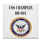 USS CHAMPLIN Tile Coaster