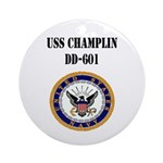 USS CHAMPLIN Ornament (Round)