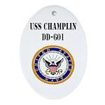 USS CHAMPLIN Ornament (Oval)